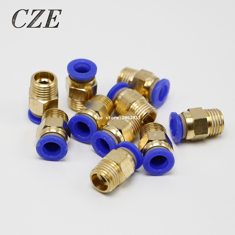 """1.97$  Buy now - http://alie0v.shopchina.info/go.php?t=32655450511 - """"10Pcs/lot PC8-02 Tube 8mm Thread Straight Throught 1/4"""""""" Pneumatic Pipe Fitting tube connector PC5/16-02 """"  #SHOPPING"""