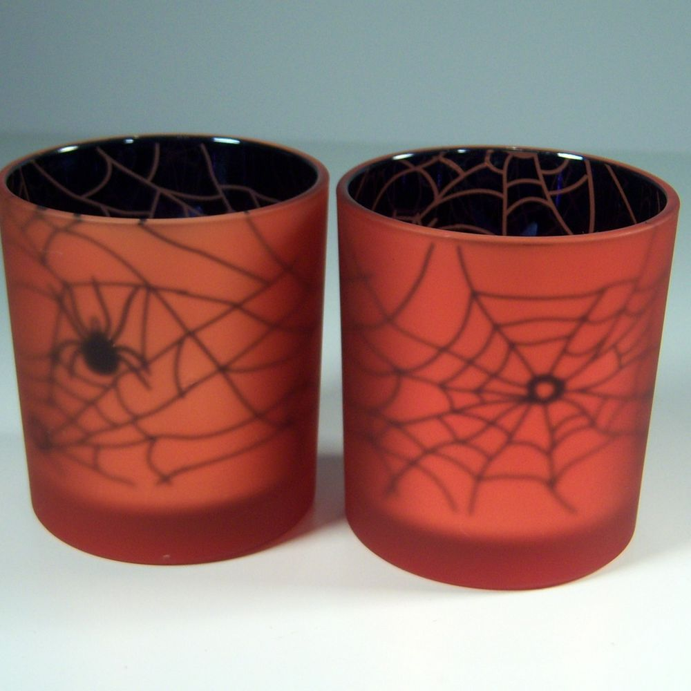 Yankee candle halloween spider web flickering votive holders