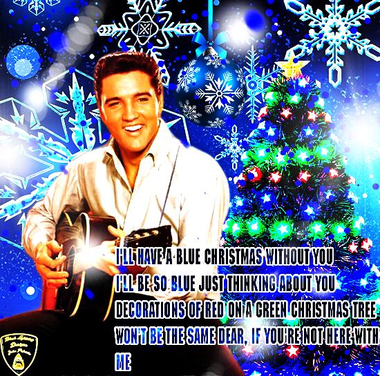 hope everyone enjoys this elvis presley blue christmas wallpaper i created black lightning also here link - Elvis Presley Blue Christmas