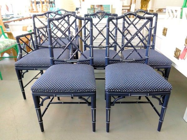 Wondrous Set Of 6 Faux Bamboo Chippendales In Old Navy For The Customarchery Wood Chair Design Ideas Customarcherynet