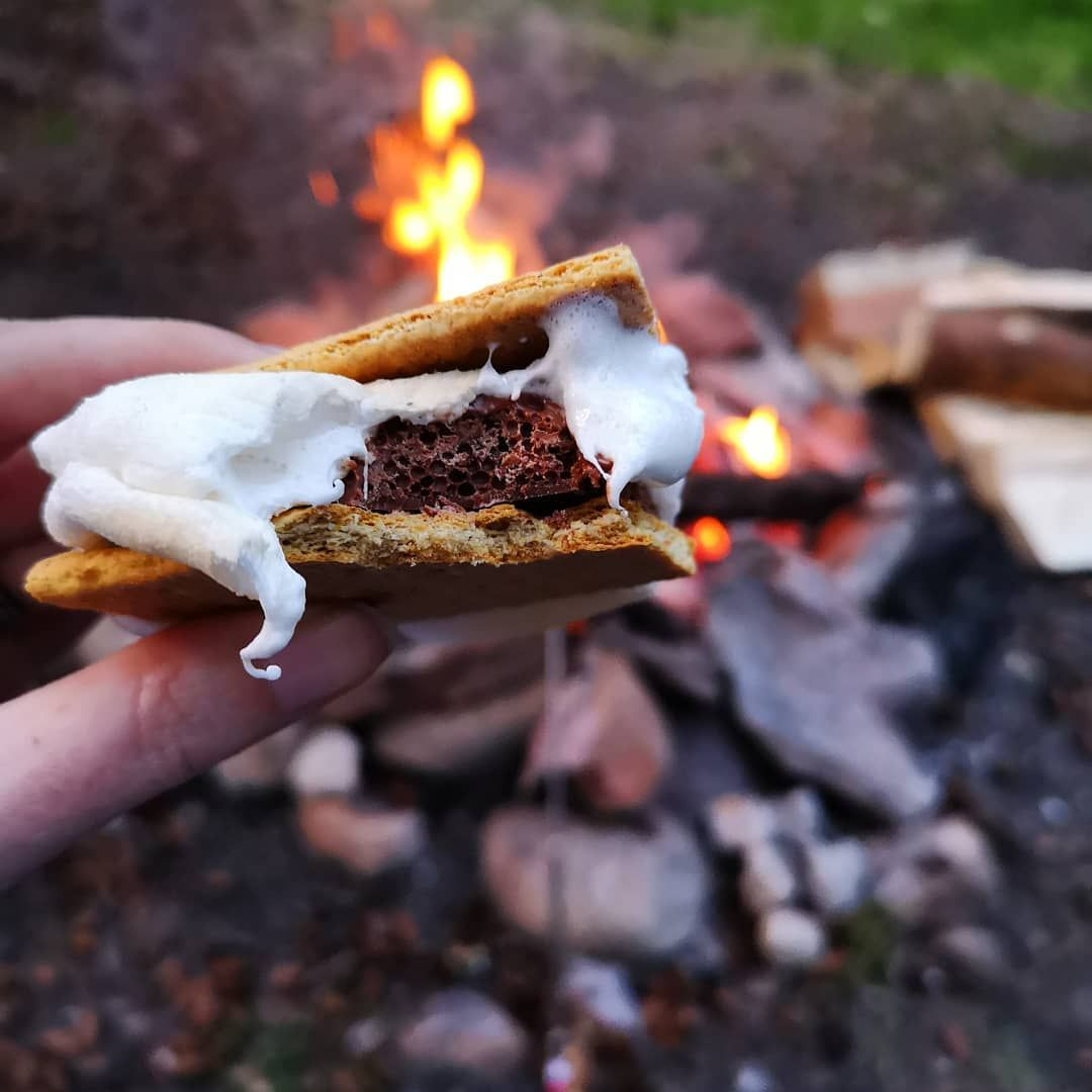 You're never too old to get sticky s'mores all over you. 😍🙂
