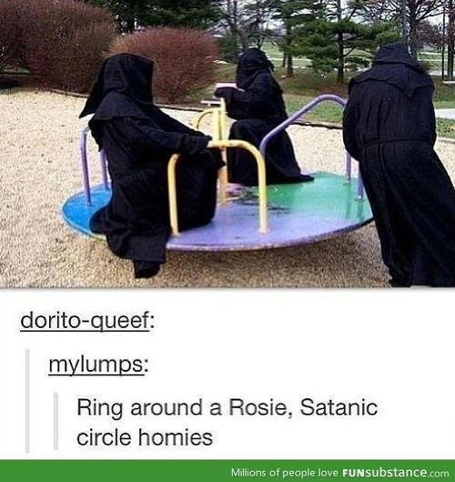 Man, the hooded figures are really having fun today.