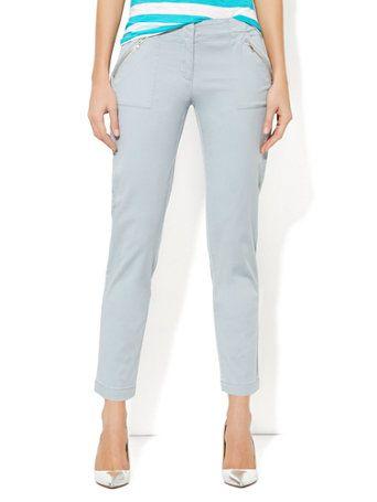 Zip-Pocket Ankle Chino - New York & Company