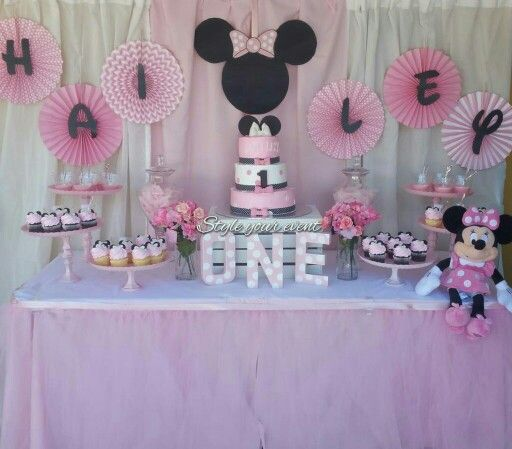 Minnie Mouse Candy Table View More Pictures On Instagram Styleyourevent Pinata De Minnie Fiesta Minnie Cumpleanos Minnie