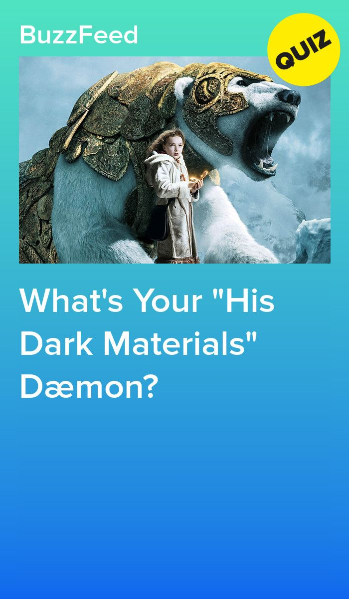 What's Your His Dark Materials Dæmon?