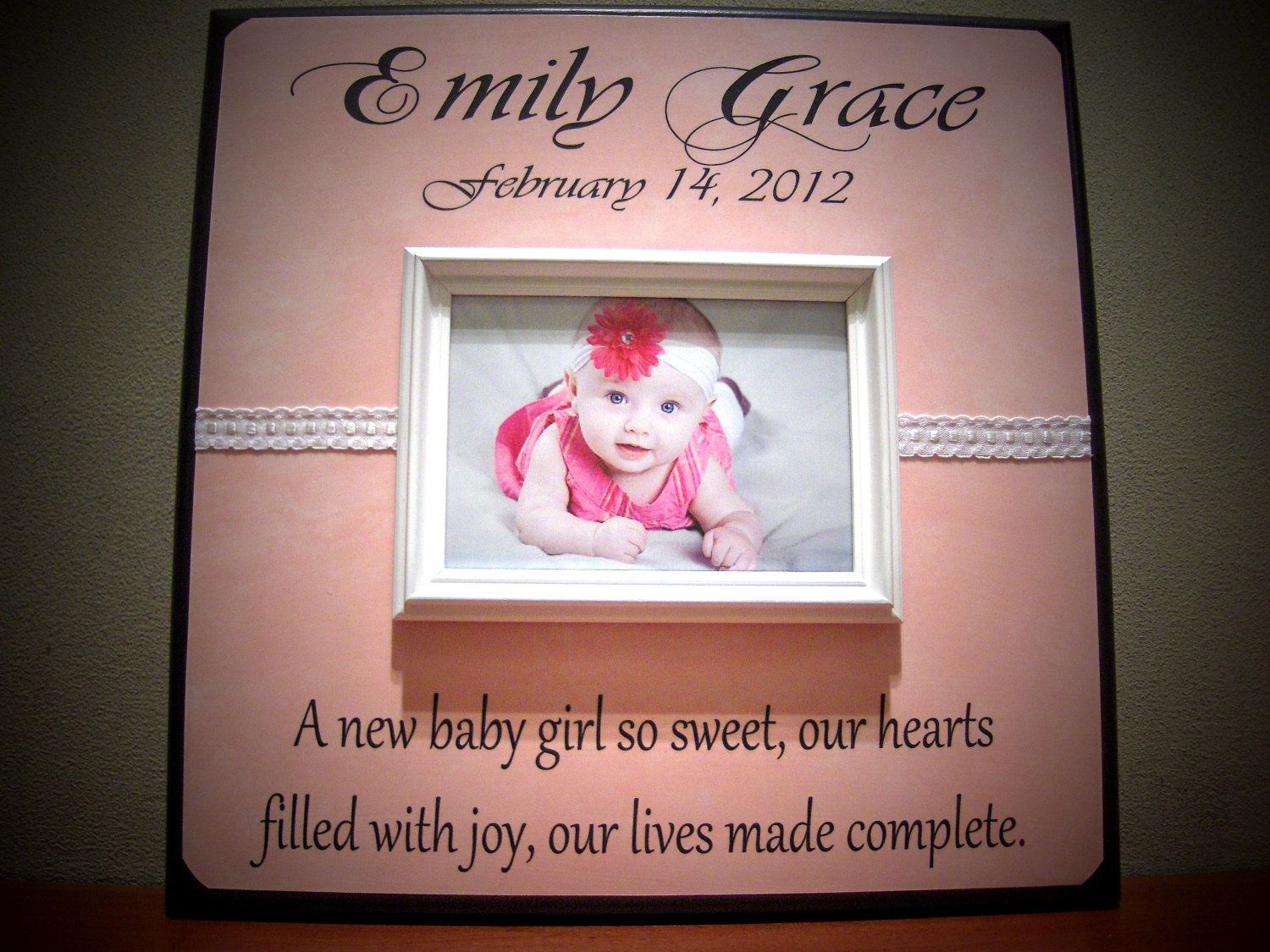 New baby personalized picture frame gift poem nursery new new baby personalized picture frame gift poem nursery new parents baby shower negle Image collections