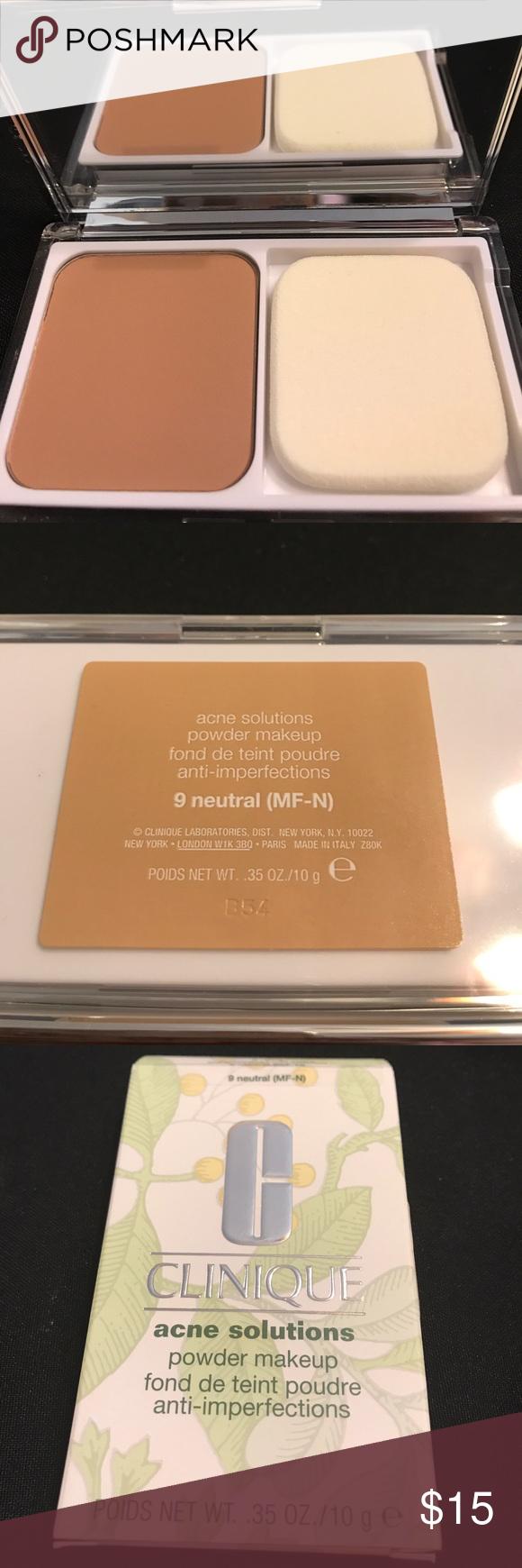 Clinique 9 Acne Solutions Powder. New neutral(MFN