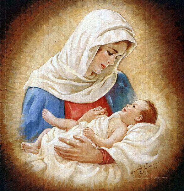 Марии тревожно за своего ребенка, она полна нежности и ласки к нему.