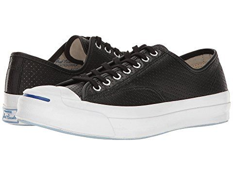 4d75ad6b0396 Converse - Jack Purcell Perforated Goat Leather (Black)