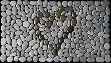 STONE DOOR MAT - KORU HEART Design - Pebble Mat