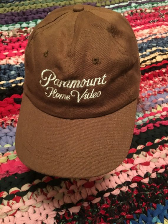 57f579518e4 90s Paramount Home Video vintage strapback snapback baseball hat cap rare old  school promo store vhs movie film cinema classic old school