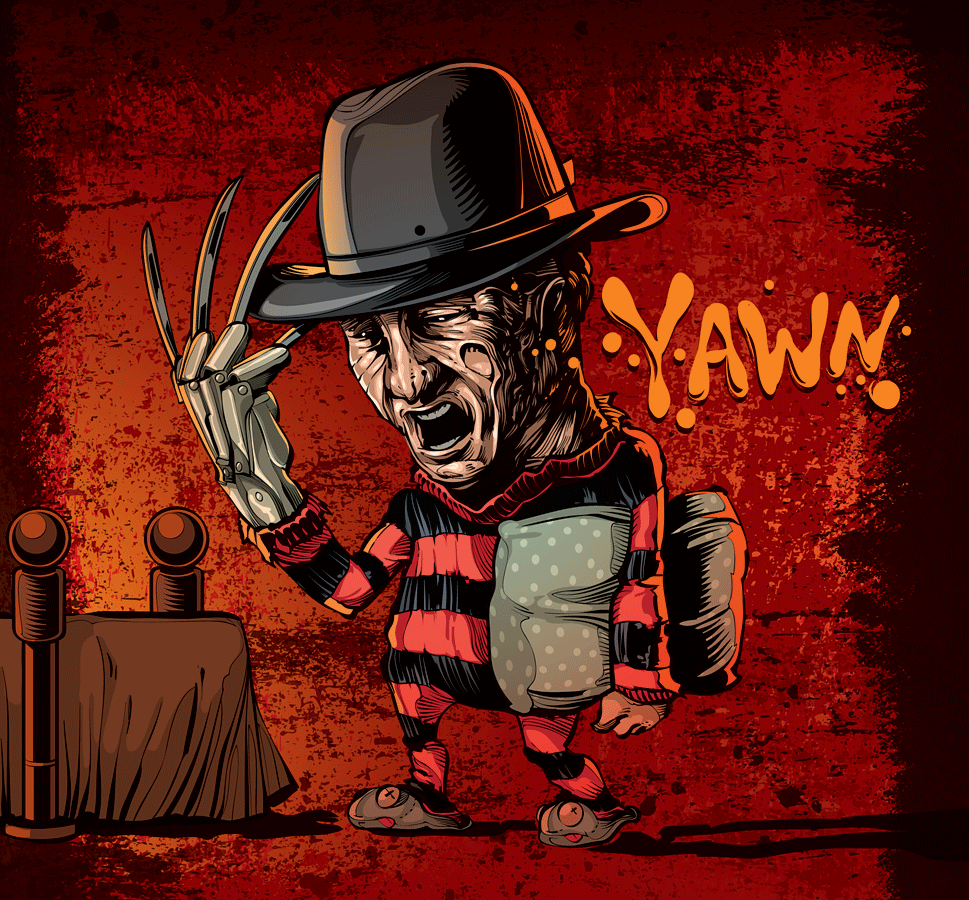 A Nice Picture Of My Dad At Work Awesome A Nightmare On Elm Street Artwork Anoes Anightma Freddy Krueger Art Horror Movie Icons Classic Horror Movies