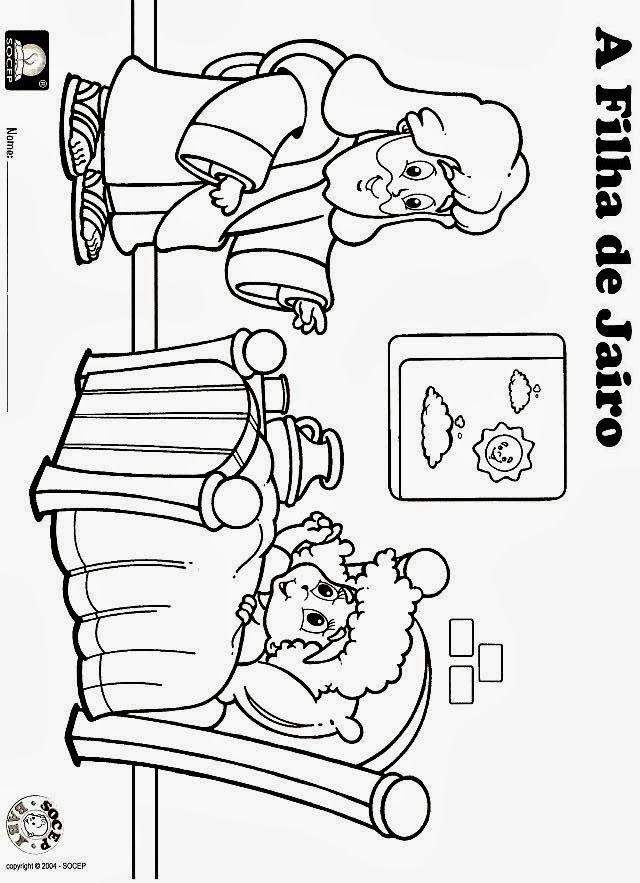 Desenho Colorir Ebd Atividade Filha De Jairo Criancas Para