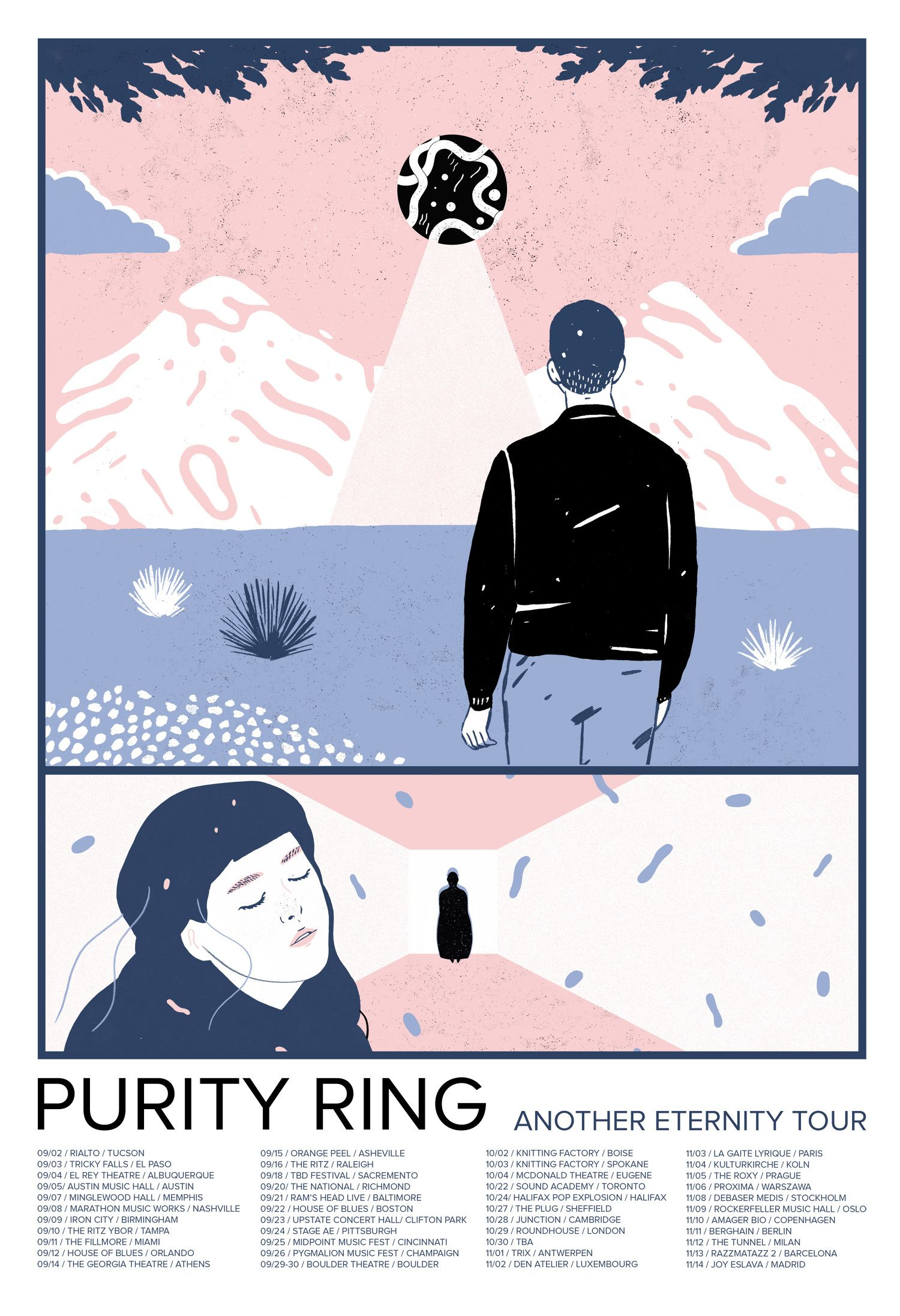 Purity Ring Tallulah Fontaine Purity Ring Poster Tour Posters