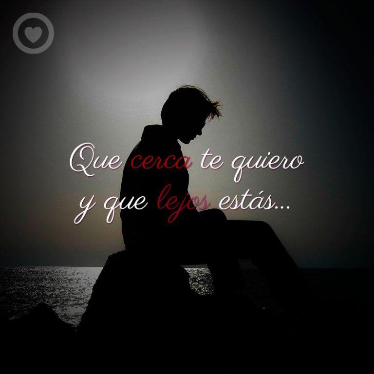 Imagen De Hombre Triste Con Frase De Amor A Distancia Amor