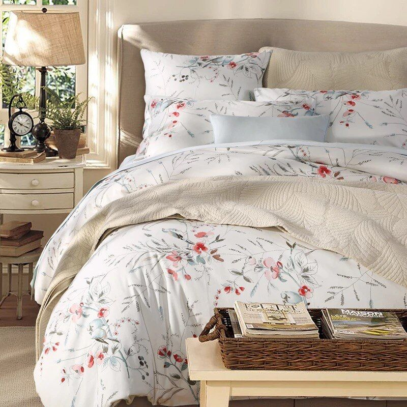 100 Egyptian Cotton 600 Tc Ab Printed And Solid Colors Queen King Size Duvet Cover 220x240 Cm Or 230x250cm King Size Duvet Covers King Size Duvet Duvet Covers