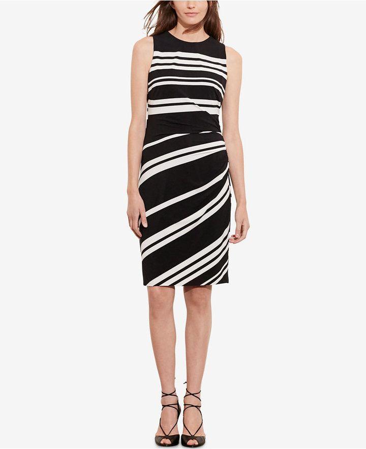 61c72bd550bd7d Lauren Ralph Lauren Striped Jersey Dress | Fashion | Striped jersey ...