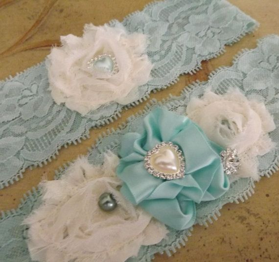 tiffany blue stretch lace bridal
