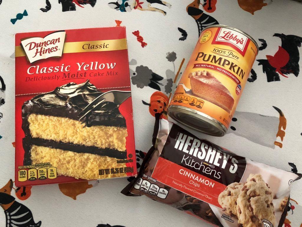 Cinnamon chip pumpkin muffins only 3 ingredients