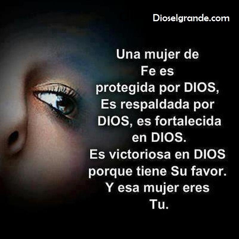 Mujer De Dios Para Ti Una Mujer De Fe Es Protegida Por Dios Es