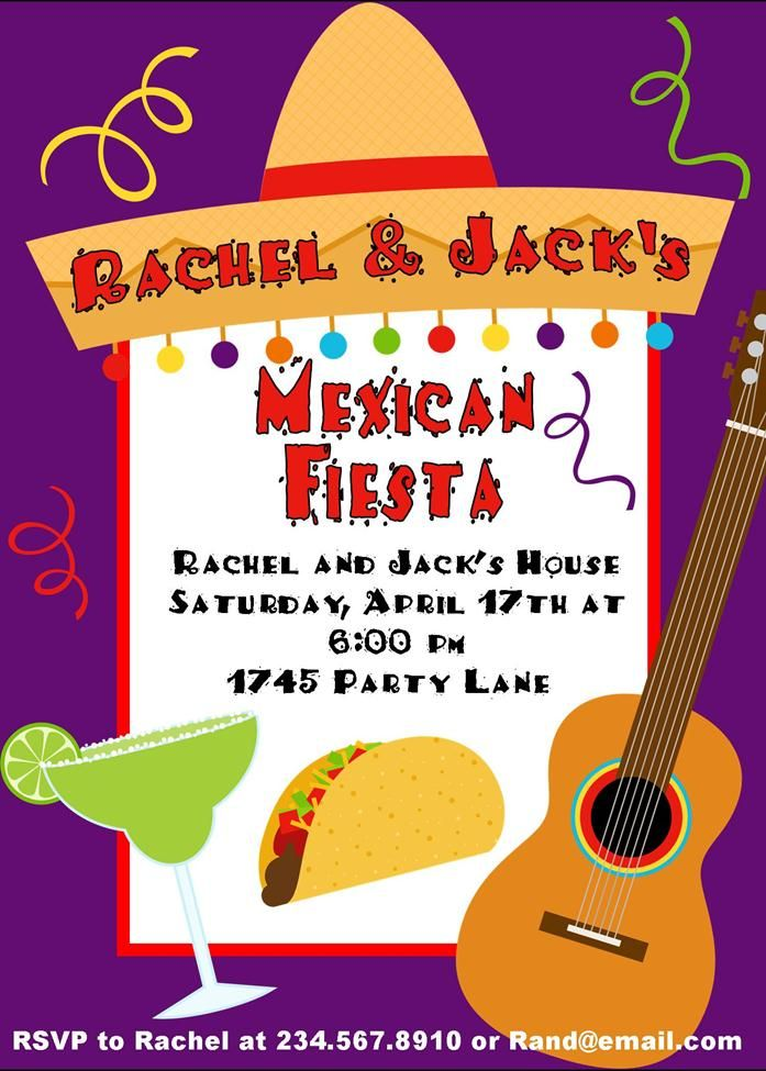 personalized Mexican fiesta invitations | I see a theme | Pinterest ...