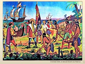 Me Encanta Escribir En Espanol Laminas Sobre El Descubrimiento De America O El Encuentro De Dos Mundos Viajes De Cristobal Colon Cristobal Colon Dos Mundos