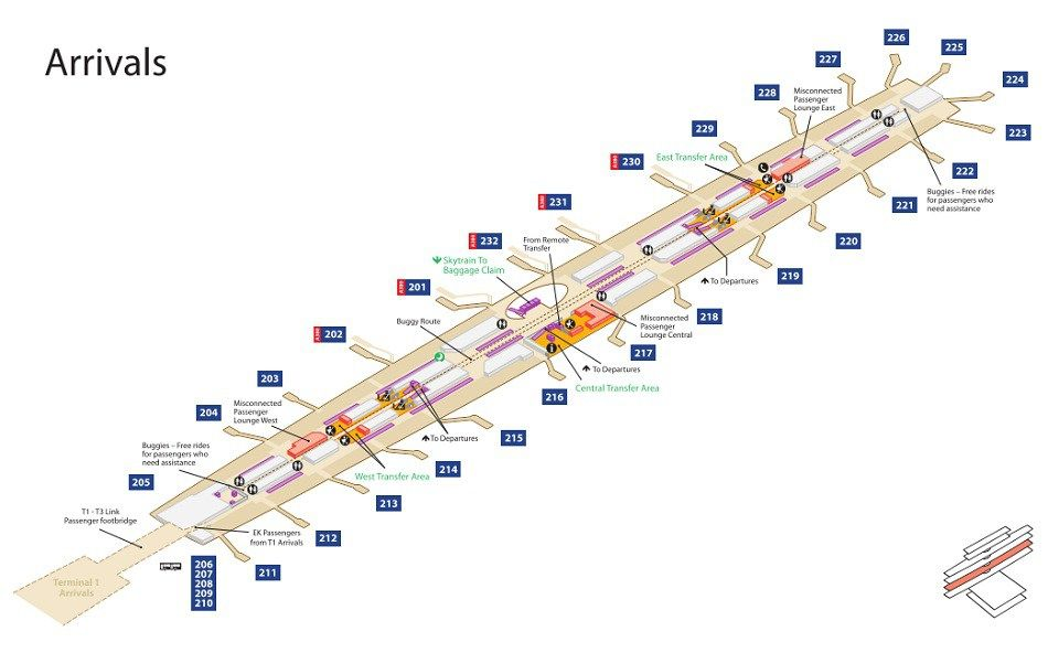 dubai terminal 3 map Dubai Airport Terminal 3 Maps Dubai Airport Airport Airport dubai terminal 3 map