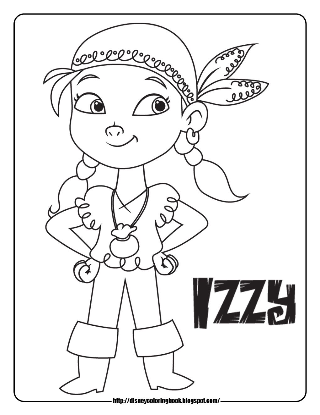 Disney Jake And The Pirates Coloring Page יצירה Pinterest