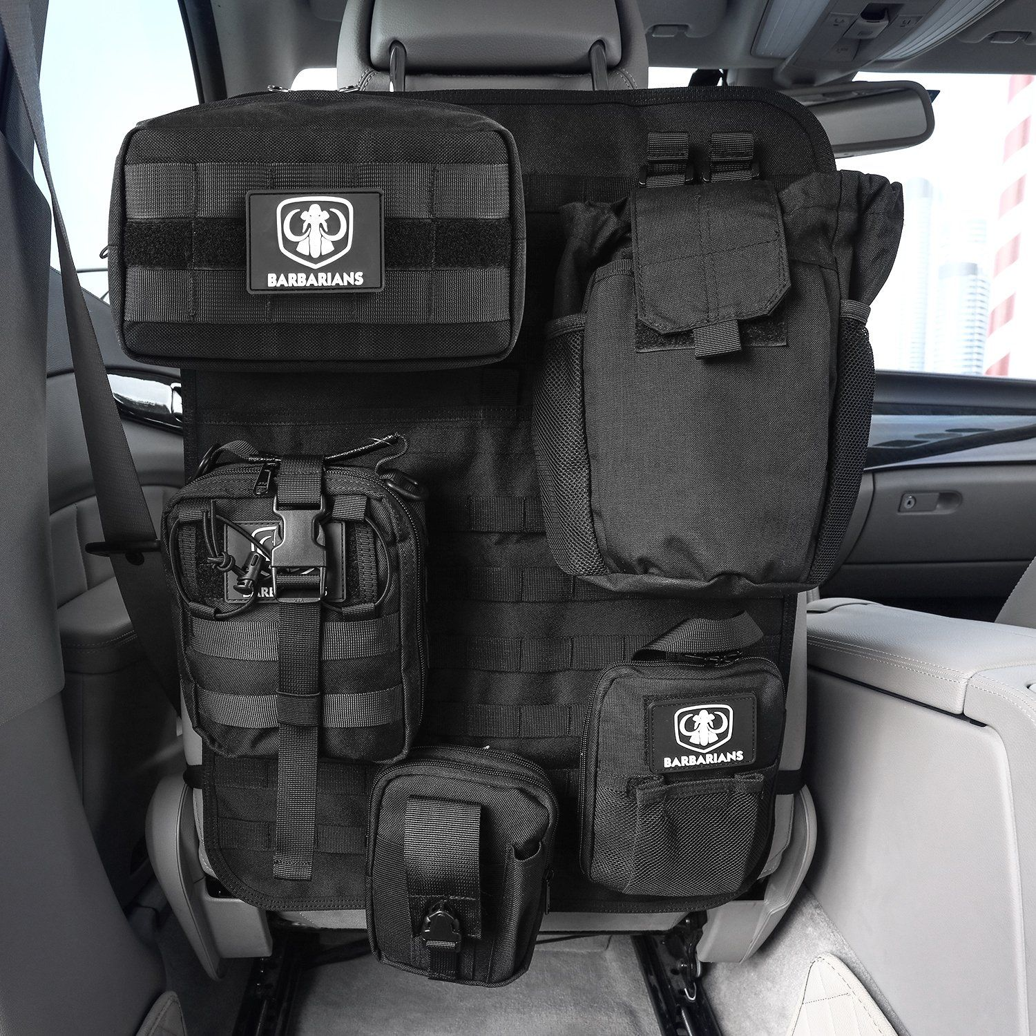 Barbarians Car Seat Back Organizer Tactical MOLLE Panel