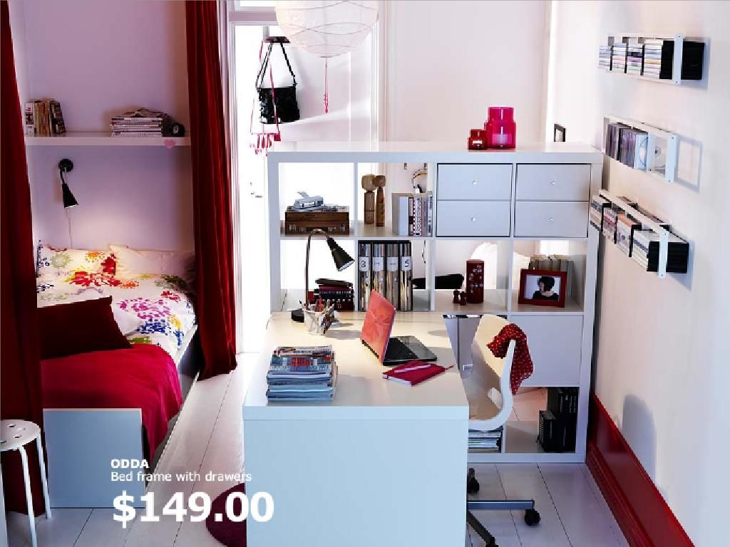 2011 IKEA Teen Bedroom Furniture For Dorm Room Decorating Ideas 2011 IKEA Girls  Bedroom Bed Frame With Drawer For Dorm Room Decorating Idea .