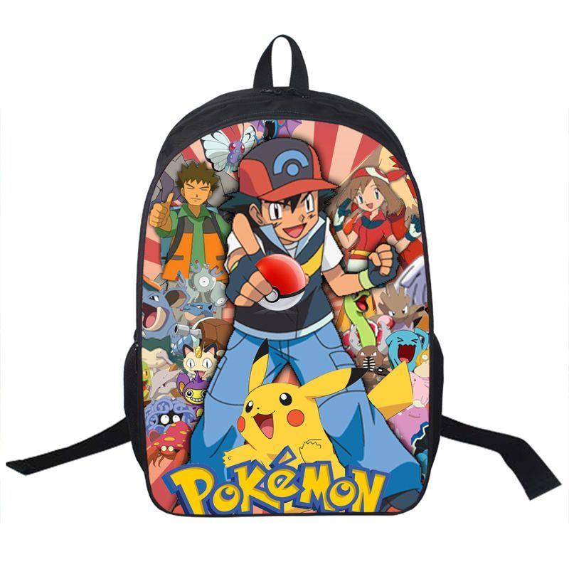 Anime Pokemon Daily Backpack Boys Girls School Bags Pikachu Prints Backpack  For Teenagers Kids Gift Backpacks Schoolbags Mochila bb3ba886c4