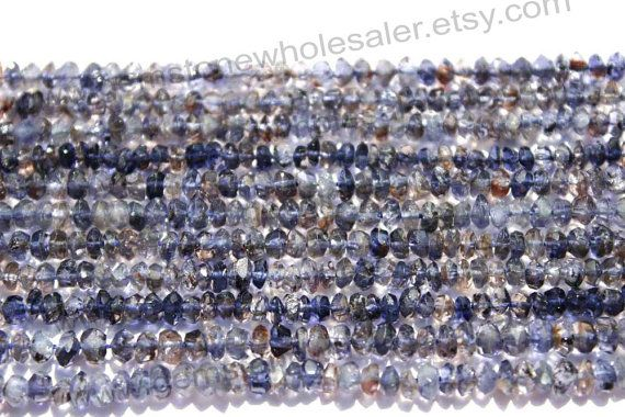 Iolite Faceted Roundel Quality C / A pack of by GemstoneWholesaler