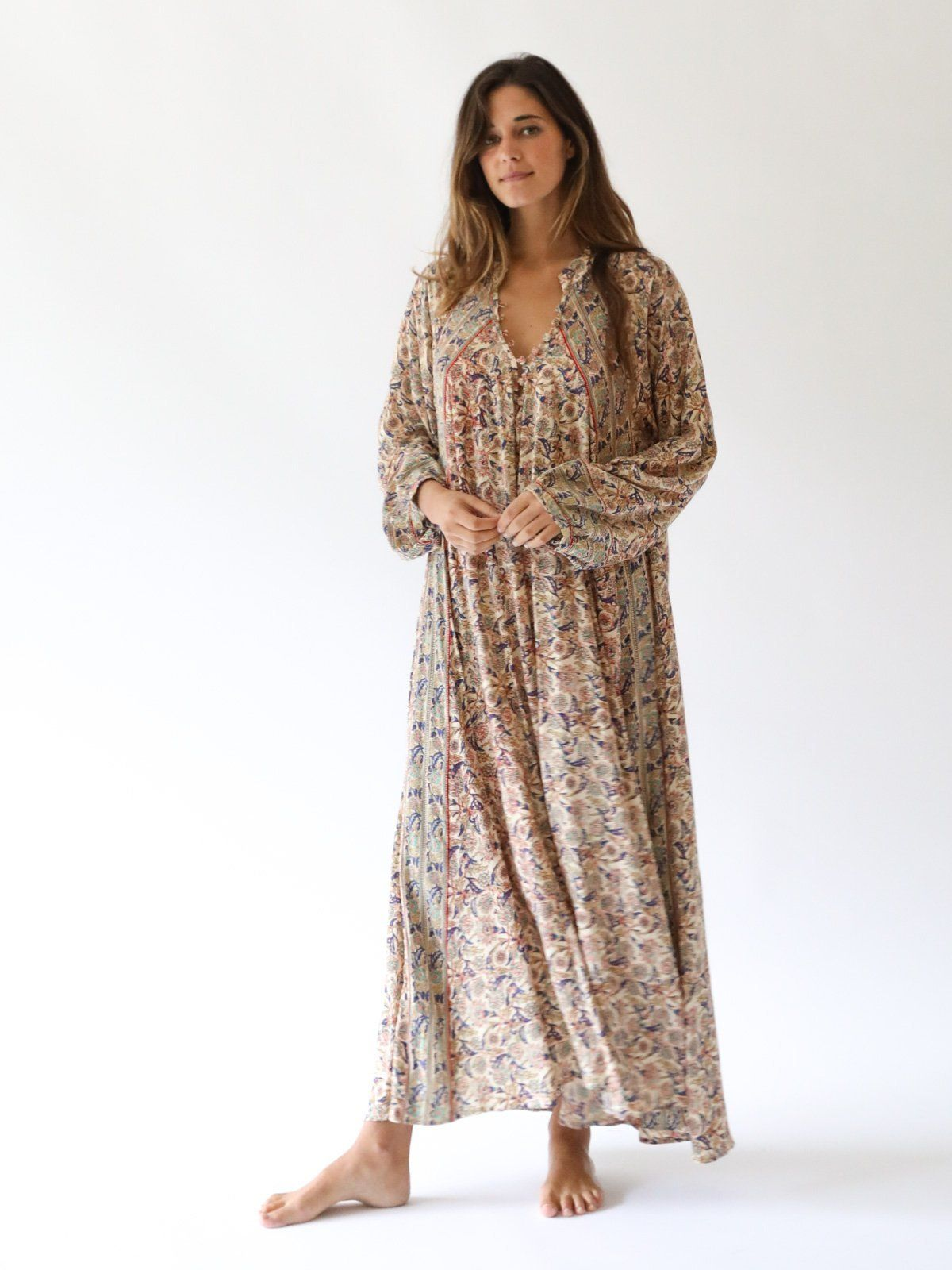 ca9b392068f NATALIE MARTIN - Fiore Maxi Dress in Goa Print