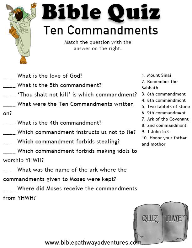 Teen Bible Quizzes 71