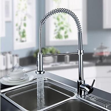 Buy Pull Down Kitchen Faucet Solid Brass Chrome Finish Robinet - les robinets de cuisine