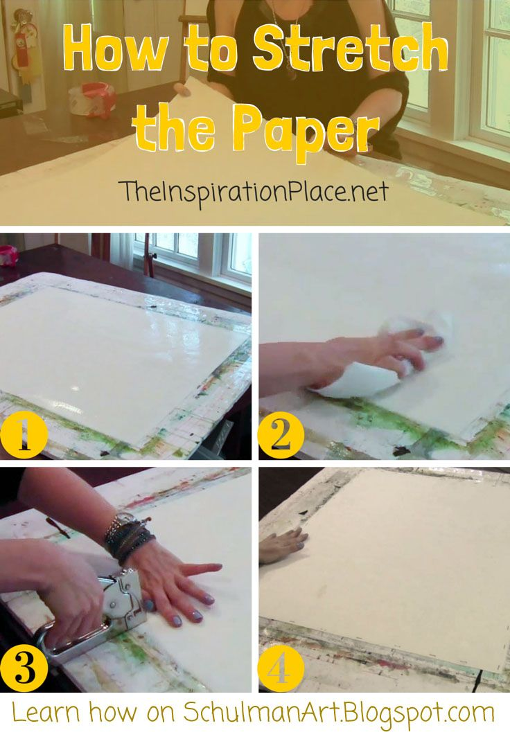 How to stretch watercolor paper Watercolor paper
