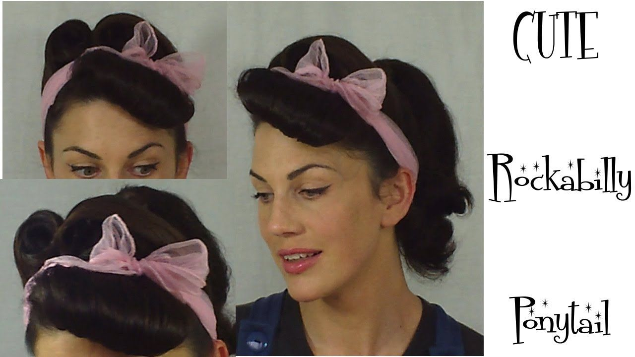 How To Rockabilly Ponytail Retro Vintage Pinup Hairstyle