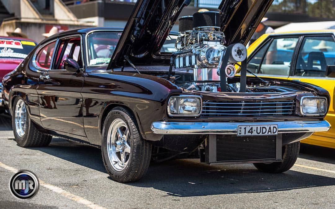 Tuff Blown Ford Capri Aussie Muscle Car Carshow