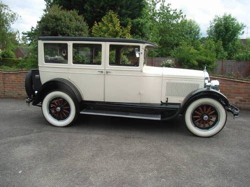 Hupmobile Four Door Saloon Ivory Over Black 1926 Beautiful