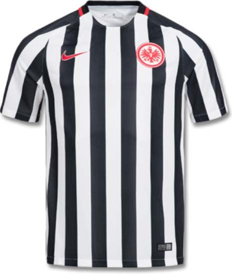 3b67e87e51b The Eintracht Frankfurt 16-17 home kit introduces a new design for the  club
