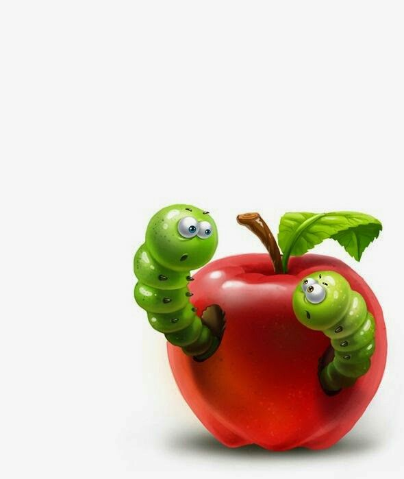 Apple with Worms