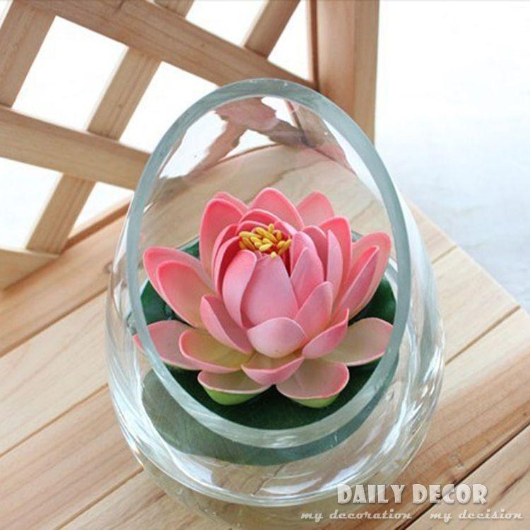 Artifical mini plastic lotus flowers fake small floating water lily artifical mini plastic lotus flowers fake small floating water lily flores decoration in 7 color free mightylinksfo