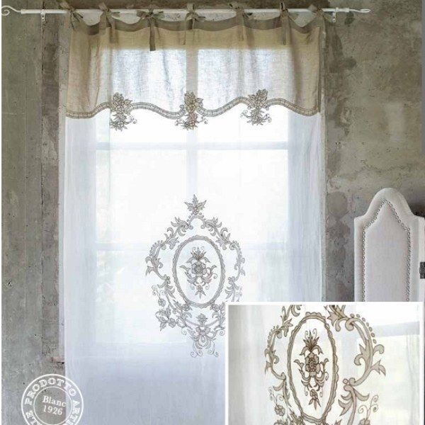 rideau coquecigrues bicolore ivoire blanc mariclo pinterest window shabby and curtain. Black Bedroom Furniture Sets. Home Design Ideas