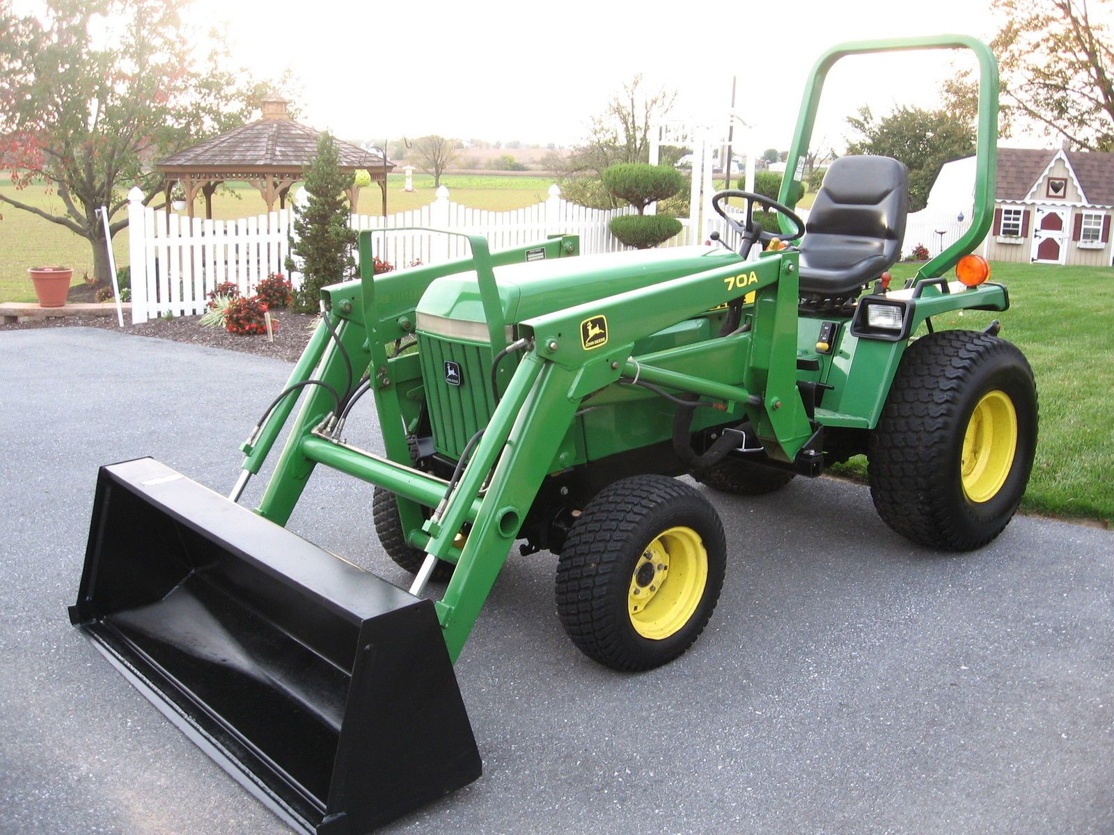 small resolution of john deere 855 diesel 412 hrs 4x4 hydro loader compact tractor nice ebay