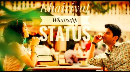 Khairiyat Pucho Kabhi To Kaifiyat Pucho Arijit Singh Lyrics Status Video In 2020 Lyrics Song Status Songs