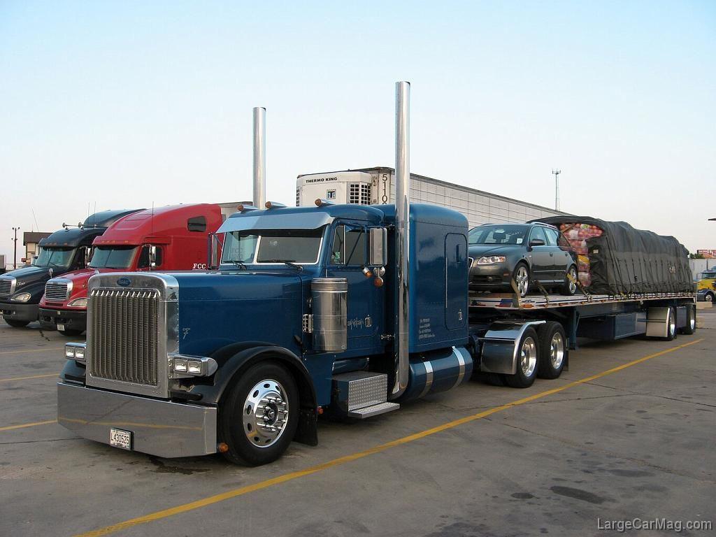 Peterbilt 379 flatbed trailer peterbilt 379 379exhd pinterest peterbilt 379 peterbilt and flatbed trailer