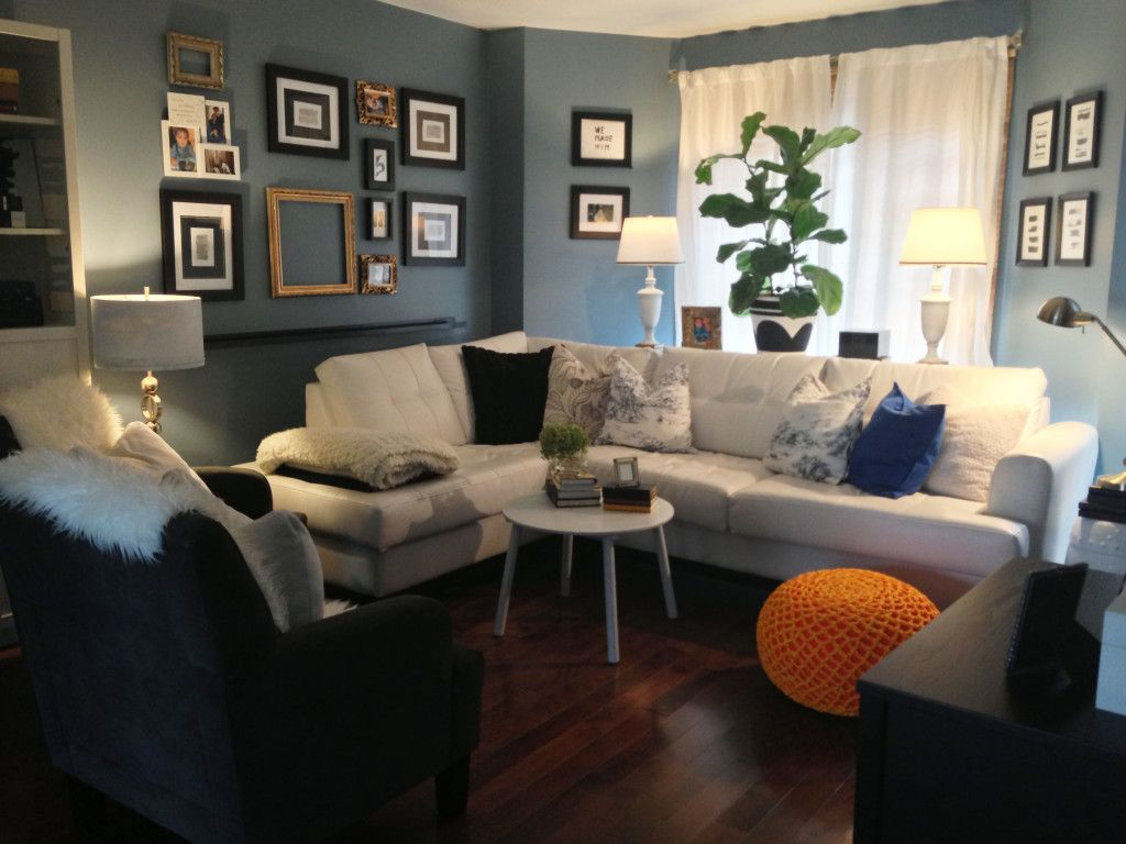 Slate Blue Living Room