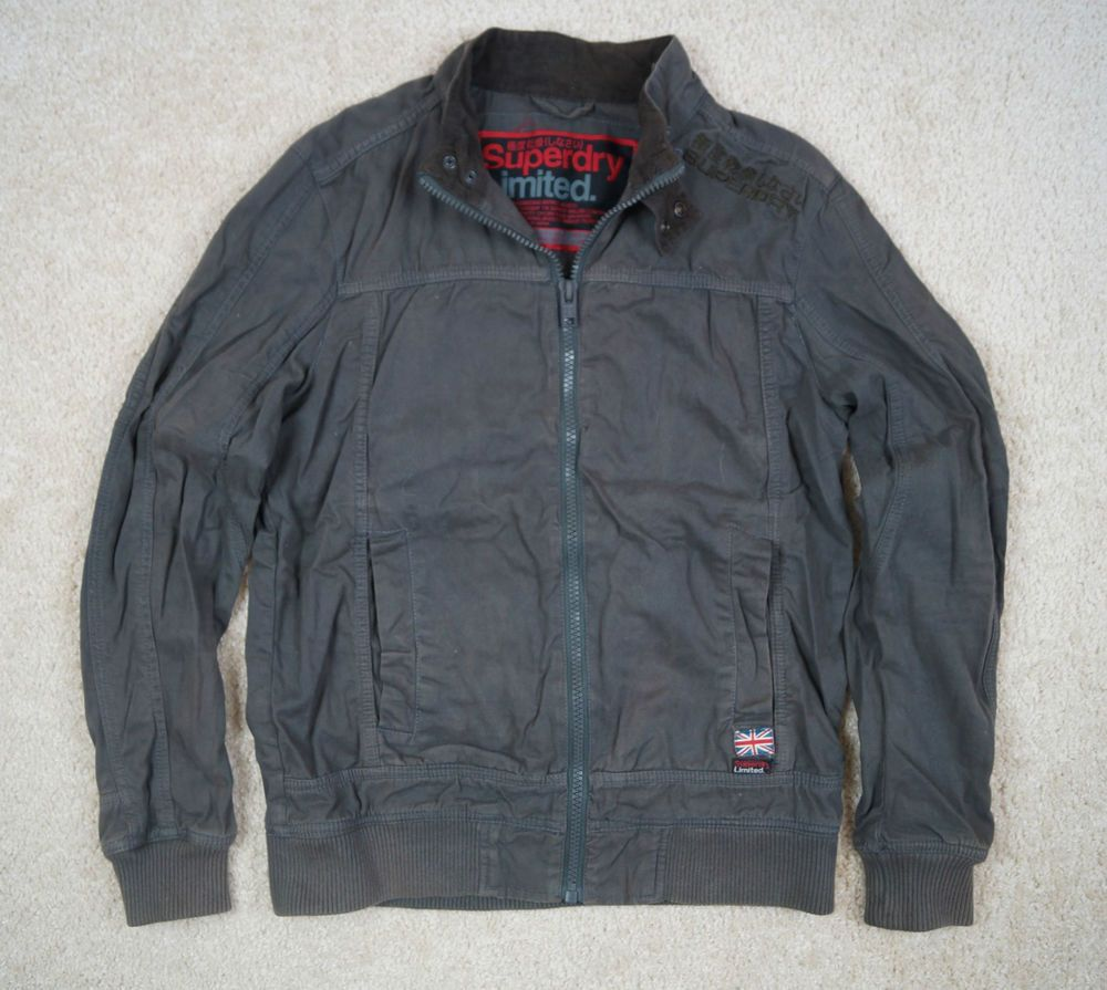 Men's Superdry Limited Grey Jacket Size M Chest 40 Long