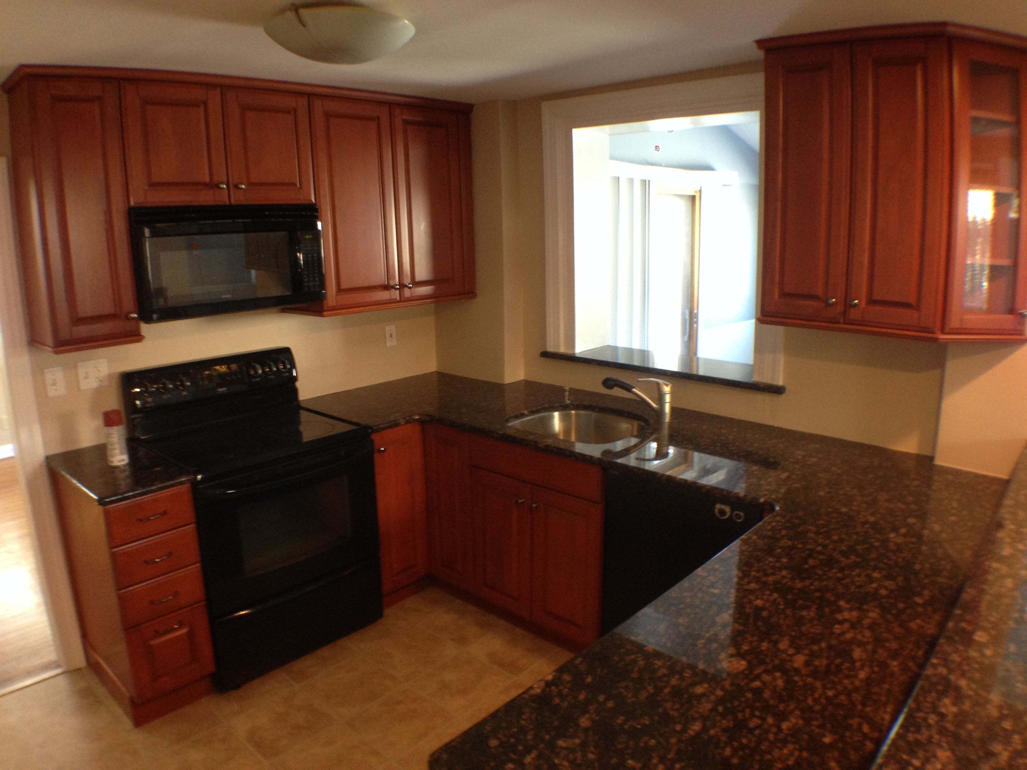 Maple Cabinets and Granite tops