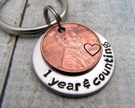 Mens personalized anniversary gift personalized keychain